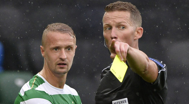 Yellow card: Leigh Griffiths