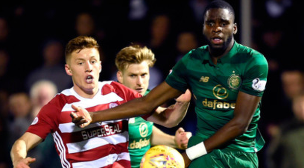 Debut Bhoy: Odsonne Edouard tries his luck