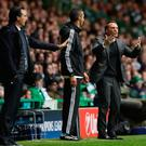 Celtic manager Brendan Rodgers on the touchline