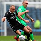 Jostle: Scott Brown battles with Dylan McGeouch