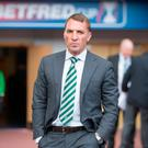 Celtic manager Brendan Rodgers wants the SPFL to allow his side the chance to get over the line in an Old Firm derby.