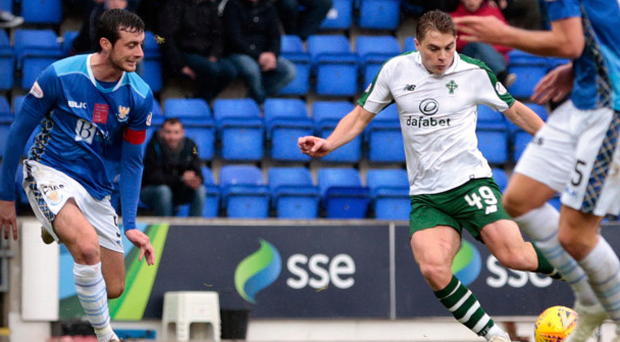 Wing wizard: James Forrest makes it 5-0 with his fourth against St Johnstone