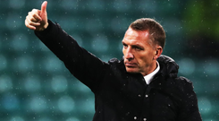 Thumbs up: Brendan Rodgers is pleased with his Celtic team's form