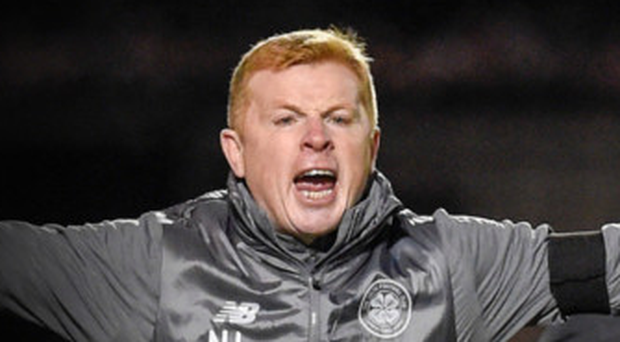 Fierce blast: Celtic boss Neil Lennon has condemned the throwing of a firecracker by a supporter in last night's game