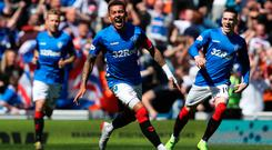 Quick starter: James Tavernier celebrates his early opener