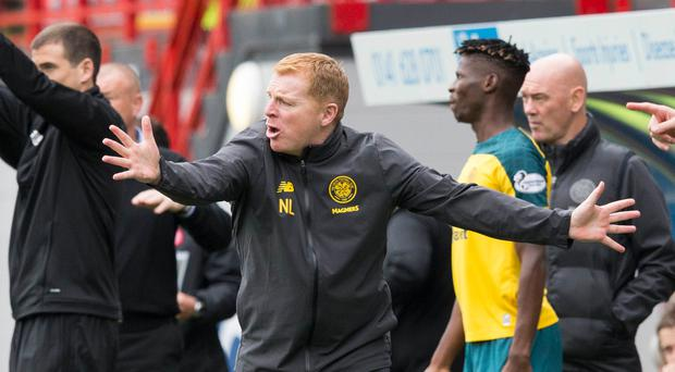 Perfect start: Neil Lennon's side have won five out of five