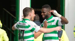 Two good: Odsonne Edouard celebrates his second goal