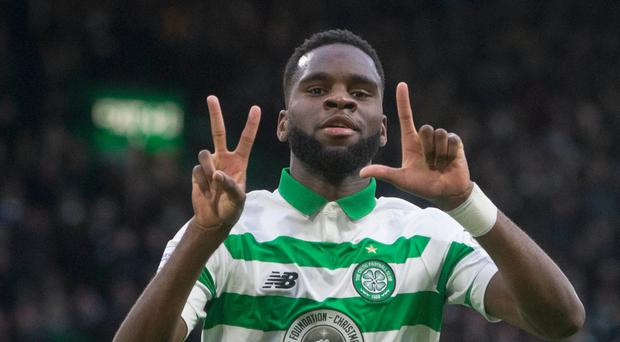 Clinical edge: Odsonne Edouard enjoys the moment after scoring