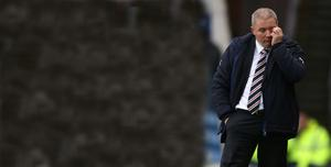 Rough times: Ally McCoist has left his position as Rangers manager and now the club's board are feeling the heat