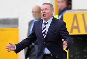Staying put: Ally McCoist is adamant he is remaining in charge of Rangers despite the shock defeat to Alloa