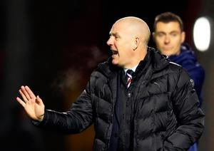 A statement on the Rangers team website said manager Mark Warburton has been sacked. He has denied this is true.