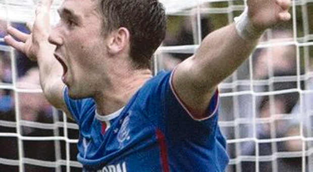 Thriller: Nicky Clark came off the bench to score for Rangers