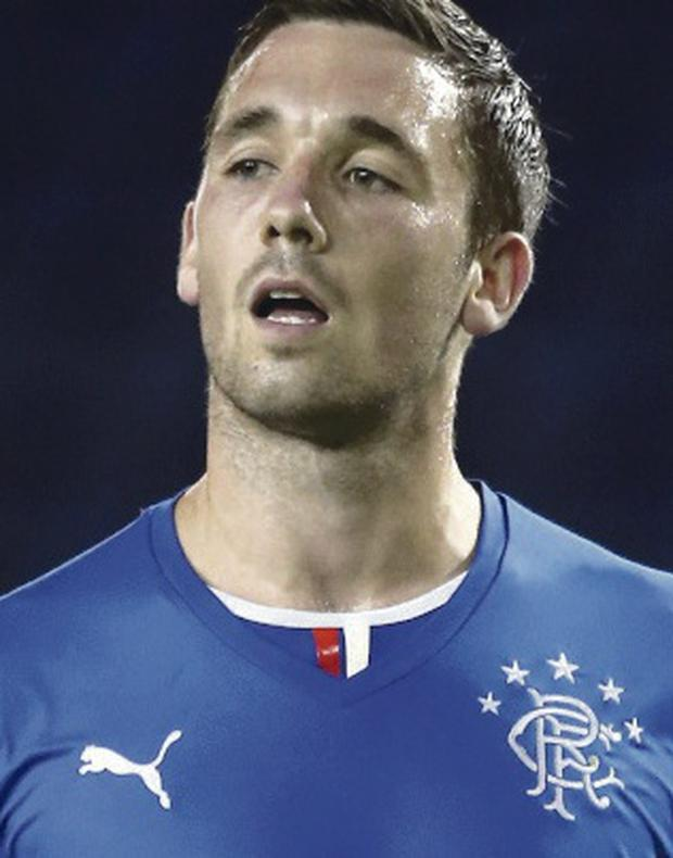 On the double: Nicky Clarke scored twice for Rangers