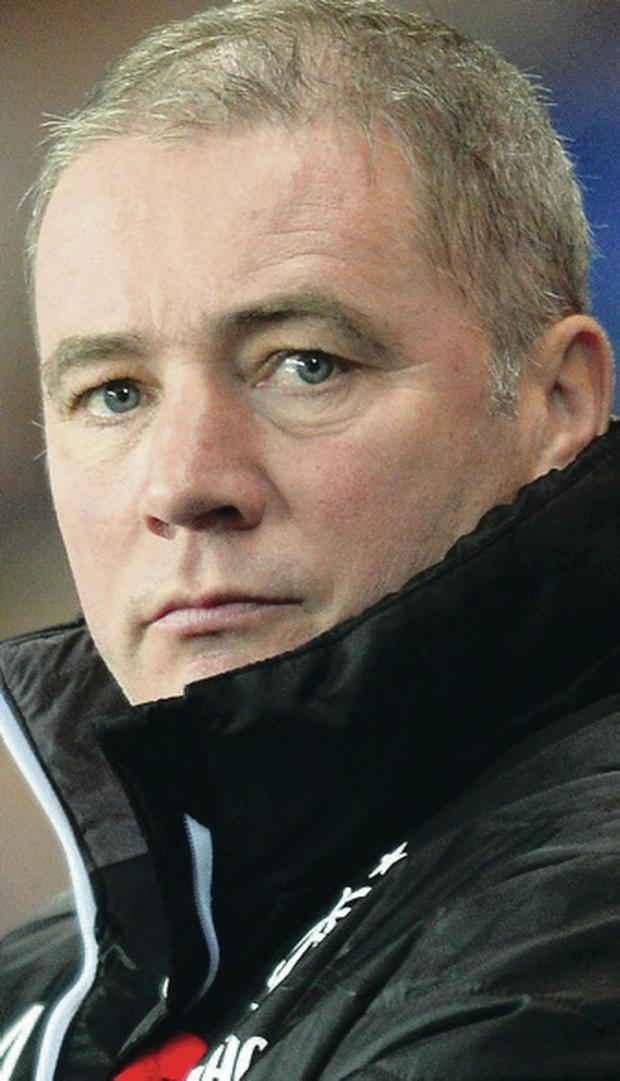 Relieved: Ally McCoist didn't want to draw old rivals Celtic
