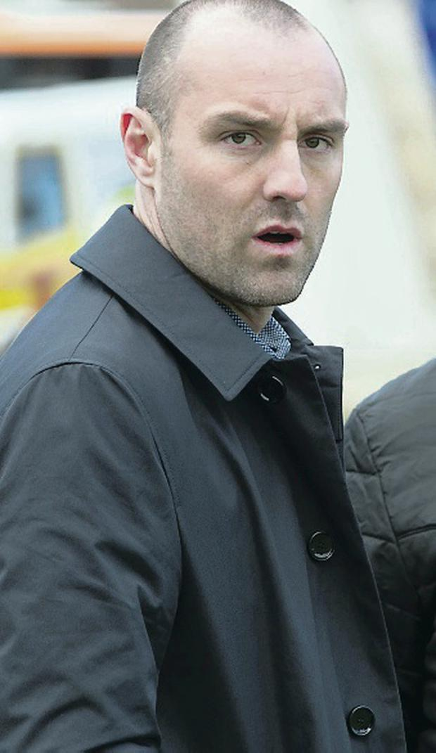 Comeback: Kris Boyd attended Rangers' game yesterday