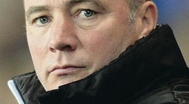 Tight-lipped: Ally McCoist says football is his only concern