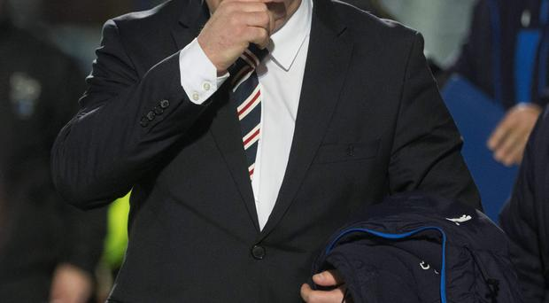 Get your coat: Ally McCoist's future as Rangers manager could be clarified after a board meeting on Wednesday
