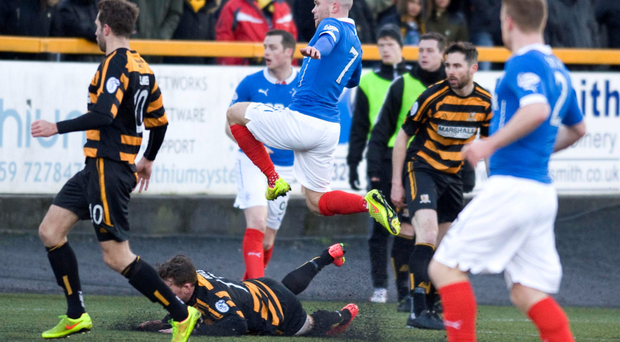 It's there: Rangers' Nicky Law scores against Alloa