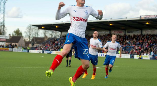 On a high: Dean Shiels has been in impressive form for Rangers recently, including key goals against Queen of the South