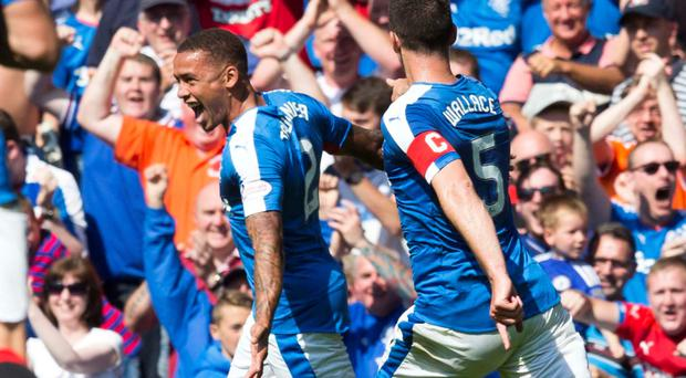 Top form: Defender James Tavernier has four goals in his first six games for Rangers since joining in the summer
