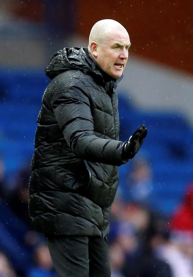 Big win: Rangers boss Mark Warburton was a happy man