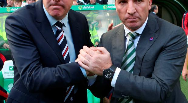 Respect: Old Firm rivals Mark Warburton (left) and Brendan Rodgers (right)