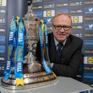Old hand: Former Rangers boss Alex McLeish helped the sponsors with the Scottish Cup draw yesterday