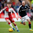 Battle ready: Emerson Hyndman expects a tough test on Friday