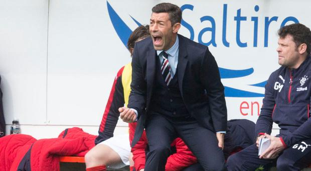 Control: Pedro Caixinha issues his instructions from the sidelines