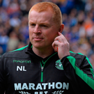 Anger: Neil Lennon upset Rangers with his goal reaction