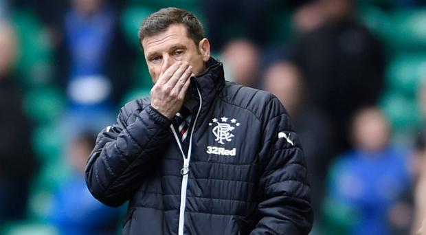 End of road: Graeme Murty fell well short as Rangers boss