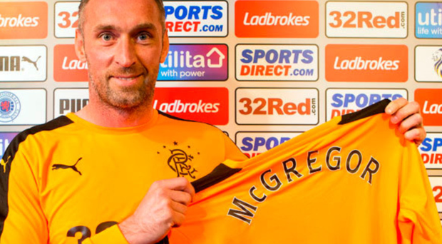 Back home Allan Mc Gregor has returned to Rangers