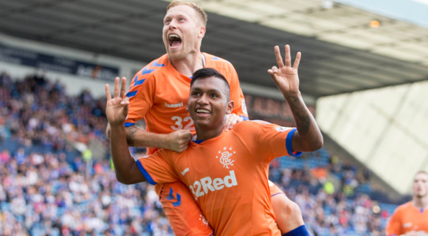 Alfredo Morelos scored a hat-trick against Kilmarnock in the League Cup earlier this month.