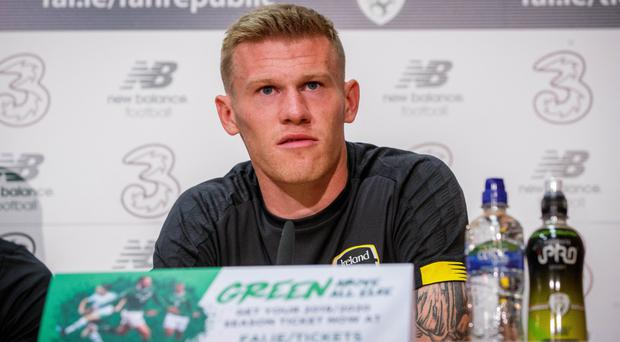 Motivated: James McClean
