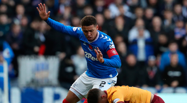 Off day: James Tavernier had another tough afternoon