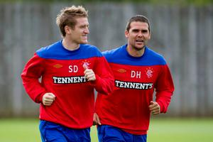 Linfield boss David Healy was a team-mate of Steven Davis at Rangers as well as with Northern Ireland