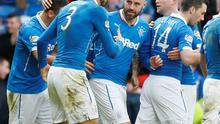 Net gain: Substitute Kris Boyd celebrates his goal during Rangers' Scottish Cup win over Kilmarnock at Ibrox