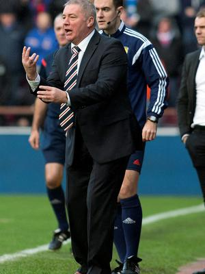 Under pressure: Gers boss Ally McCoist is chasing promotion
