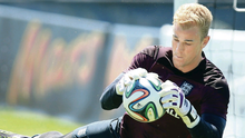 On the ball: Joe Hart is confident that he will not make a costly error during the World Cup finals, such as Robert Green's blunder against the USA during the 2010 tournament in South Africa