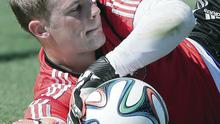 Safe hands: Manuel Neuer is up for tonight's clash with Portugal