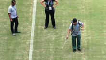 Uninspiring: The Amazonia pitch looks like it's in poor condition