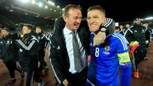 What about that Steve? Under the stewardship of boss Michael O'Neill (left) and with Steve Davis (right) as captain, Northern Ireland are set for a highest ever world ranking place.
