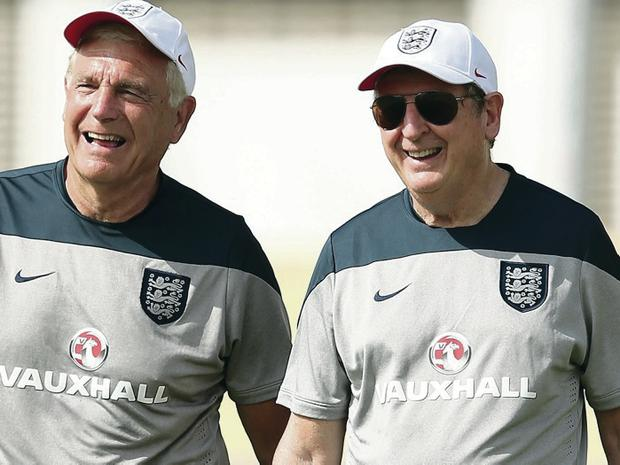 Sir Trevor Brooking, the FA's Director of Football Development and Roy Hodgson are dreaming of glory