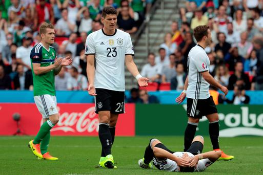 Sidelined: Mario Gomez won't be facing Northern Ireland in Hannover