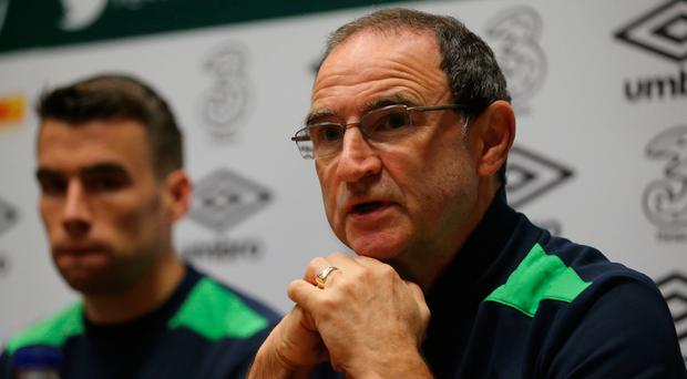 Warning: Martin O'Neill, speaking at his pre-match press conference, has warned the Republic against complacency