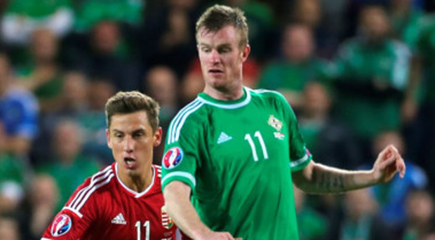 Fighting fit: Chris Brunt has been named in the Northern Ireland squad after overcoming the injury hell that kept him out of Euro 2016