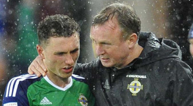Michael O'Neill with Corry Evans
