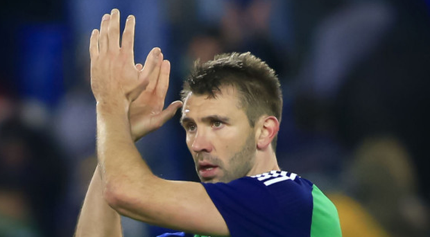 Old trusty: Gareth McAuley continues to shine for club and country at the grand old age of 37