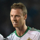 Calm pass: West Brom's Jonny Evans kept his head under pressure