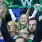 Here we go: This young Northern Ireland fan makes her voice heard as the supporters make some noise